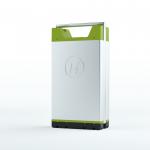 Guide Elektroroller kaufen: Austauschbarer Akku eines E-Rollers von Kumpan