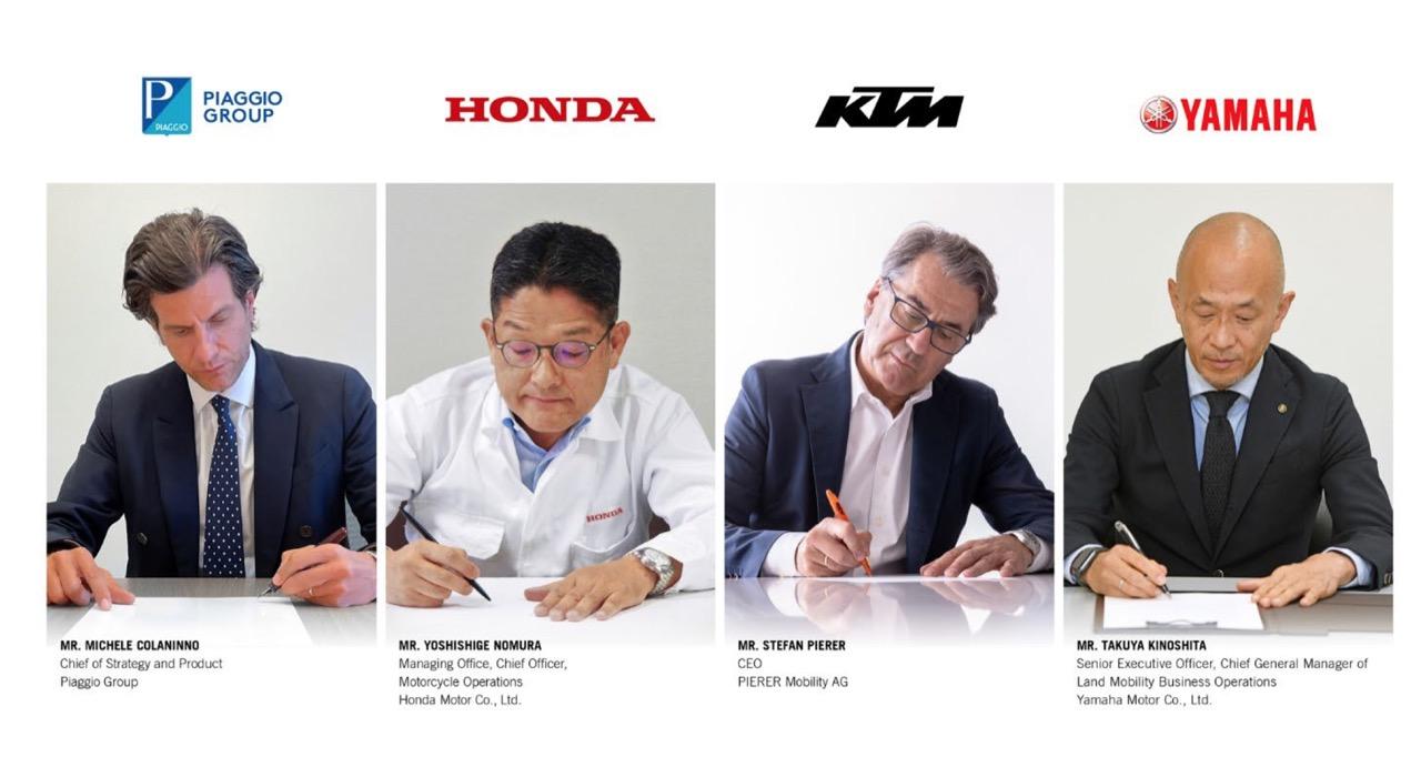 Piaggio Honda KTM Yamaha Swappable Batteries Motorcycle ConsortiumERoller